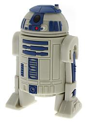 2GB unico robot a forma di alta velocità USB 2.0 Flash Drive Disk Memory Stick Disk U Disk (Grigio)