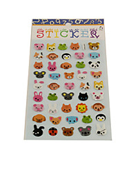 Cartoon Animals Series Stereo Bubble Sticker