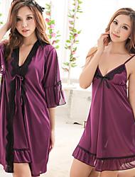 Roxo Moda conjunto de lingerie de duas peças das mulheres