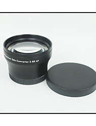 37mm 2.0x TELE telelens voor Camcorder 37 mm 2x Black