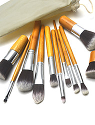 11Pcs Professional Cosmetic Brush with Free Case