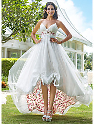 Lanting Bride A-line / Princess Petite Wedding Dress-Asymmetrical