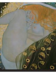 Danae by Gustav Klimt Famous Stretched Canvas Print