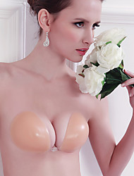 Miguo Silicone Invisible Tight Bra(Peach)