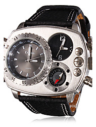 OULM® Men's Watch Military Compass Dual Times Zones Cool Watch Unique Watch