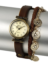 Faux Leather Movimento Quartz Rodada Assista mais cores