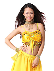 Belly Dance Tops Women's Training Satin As Picture Belly Dance Natural