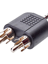 3.5mm audio naar 2RCA m / m adapter