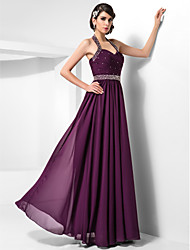 Sheath / Column Halter Sweetheart Floor Length Chiffon Prom Dress with Beading by TS Couture®