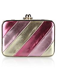 Fashion PU With Stripe Evening Handbags/ Clutches