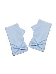 Wrist Length Fingerless Glove Cotton Flower Girl Gloves Spring / Fall / Winter