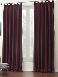 (Two Panels) Solid Purple Classic Blackout Curtain