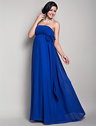 Floor-length Chiffon Bridesmaid Dress-Maternity Sheath/Column Strapless