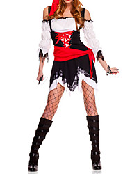 Sexy Cool noir et rouge Polyester Pirate Costume Femme (5 Pieces)