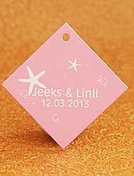 Personalized Rhombus Favor Tag - Starfish (Set of 30)