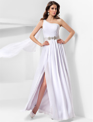 TS Couture® Formal Evening / Military Ball Dress - Vintage Inspired / Elegant Plus Size / Petite A-line / Princess One Shoulder Floor-length Chiffon