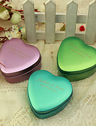 24 Piece/Set Favor Holder - Heart-shaped Metal Favor Tins and Pails Personalized