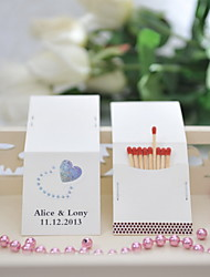 Wedding Décor Personalized Matchbooks - Heart (Set of 25)