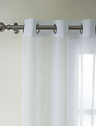 One Panel Curtain Modern , Solid Bedroom Poly / Cotton Blend Material Sheer Curtains Shades Home Decoration For Window
