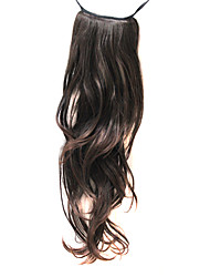 19 Inch synthetic Brown Popular Ponytail Hair Extensions