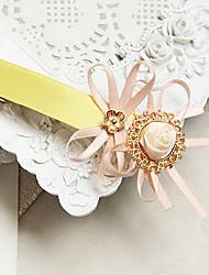 Handmade Pink Rose Satin Ribbon Princess Lolita Barrette