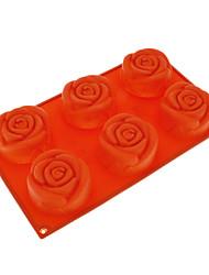 Rosa em forma de bolo silicone Moldes