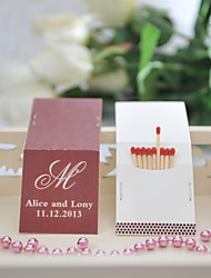 Wedding Décor Personalized Matchbooks - Initial (Set of 50)