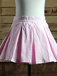 Pleated Short Pink Cotton Sweet Lolita Skirt