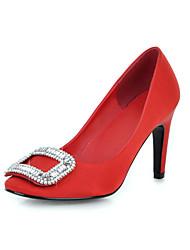 aiguilles en satin compacts pompes à talon avec strass chaussures de sport (plus de couleurs)