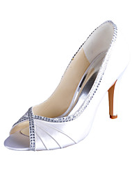 Women's Wedding Shoes Peep Toe Heels Wedding Ivory/White