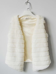 Fur Vest With Collarless In Faux Fur Casual/Party Vest(More Colors)