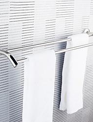 Acier inoxydable Double Porte-serviettes Serviette de bain Barre Pendentif porte-serviettes