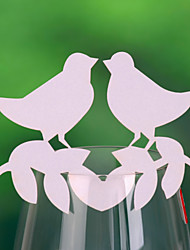 Place Cards and Holders Love Bird  Place Card For Wine Glass Card (Set of 12)