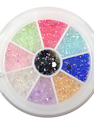 YeManNvYou®240PCS 9-Color 3mm Nail Art Acrylic Rhinestone