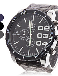 V6 Hombre Reloj Militar Reloj de Pulsera Cuarzo Cuarzo Japonés Tejido Banda Negro Azul Gris Negro Gris Azul