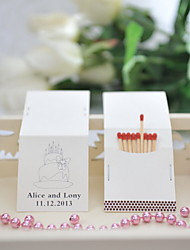 Wedding Décor Personalized Matchbooks - Cake (Set of 50)
