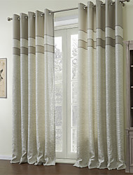 (Dois painéis) Barocco jacquard cortina de economia de energia