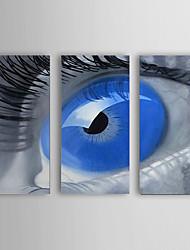 Pintada a mano Personas Tres Paneles Lienzos Pintura al óleo pintada a colgar For Decoración hogareña