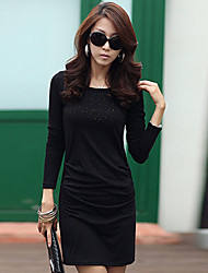 Collar Diamonade vaina Mediodía vestido redondo de la Mujer