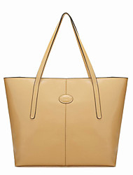 Nucelle Basic Yellow Almond Leather Tote
