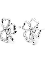 Stud Earrings Alloy Simple Style Classic Leaf Jewelry Daily