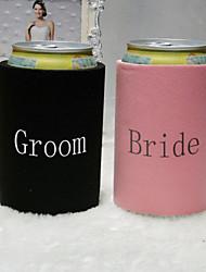 Bride & Cover bouteille de bière de marié (Lot de 2)