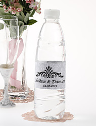 Personalized Water Bottle Sticker - Regal (Silver/Set of 15)