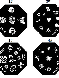 1PCS Nail Art Stamp Stamping Image Template Plate M Series NO.5(Assorted Colors)