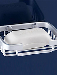 "Soap Dish Aluminum Wall Mounted 128 x 86 x 30mm (5 x 3.4 x 1.1"") Aluminum Contemporary"
