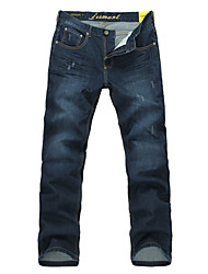 Men's Straight Denim Pants