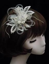 Women's Lace / Feather / Rhinestone / Imitation Pearl Headpiece-Special Occasion Fascinators
