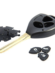 3-Button chave em branco remoto para Toyota Camry