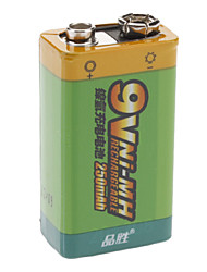 Pisen 7QN250m NI-MH Rechargeable Battery (250mAh, 9V)