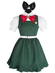 Inspired by Dangan Ronpa Sonia Nevermind Video Game Cosplay Costumes Cosplay Suits Patchwork Green Top